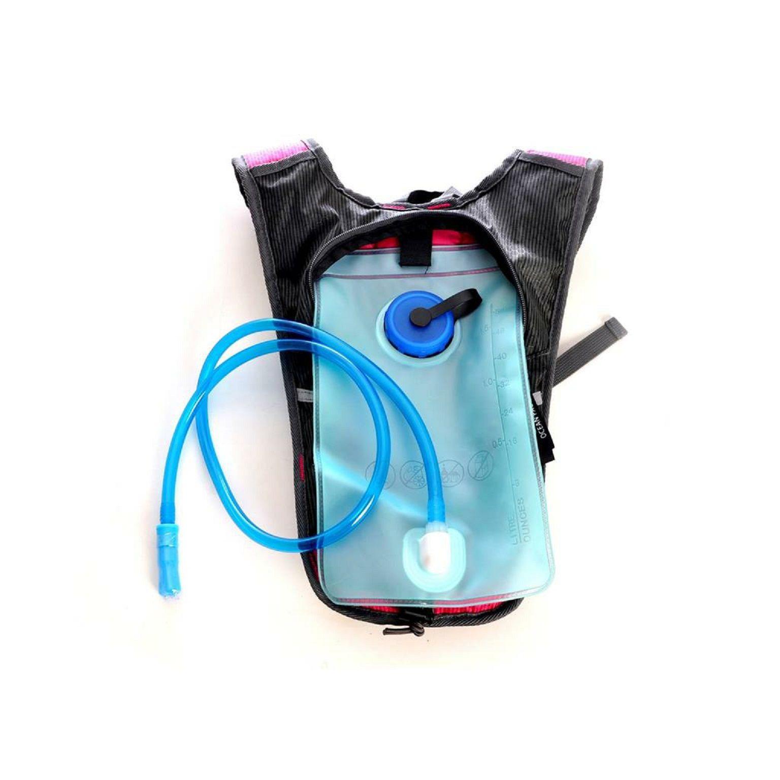 Mochila de Hidratação com Compartimento para Água Ocean Pacific - Rosa com Cinza