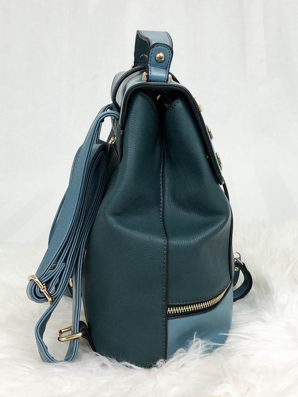 Mochila Feminina Fashion Queens Paris Azul/Verde Musgo