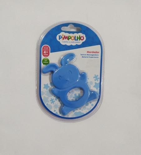 Mordedor Pimpolho Silicone Coelhinho Azul