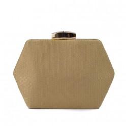 Bolsa Clutch com Detalhes Dourados REF:M-690