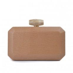 Bolsa Clutch com Detalhes Croco REF:S-95