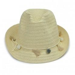 Chapéu de Praia com Franjas e Pompons
