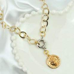 Colar Comprido Corrente Dourada Pingente Versace  REF:20