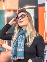 Lenço/Pashmina Estampada com Franja REF:TYM-11