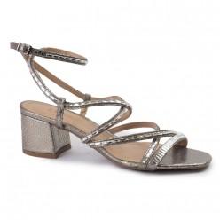 Sandália com Salto e Fivela REF:864453