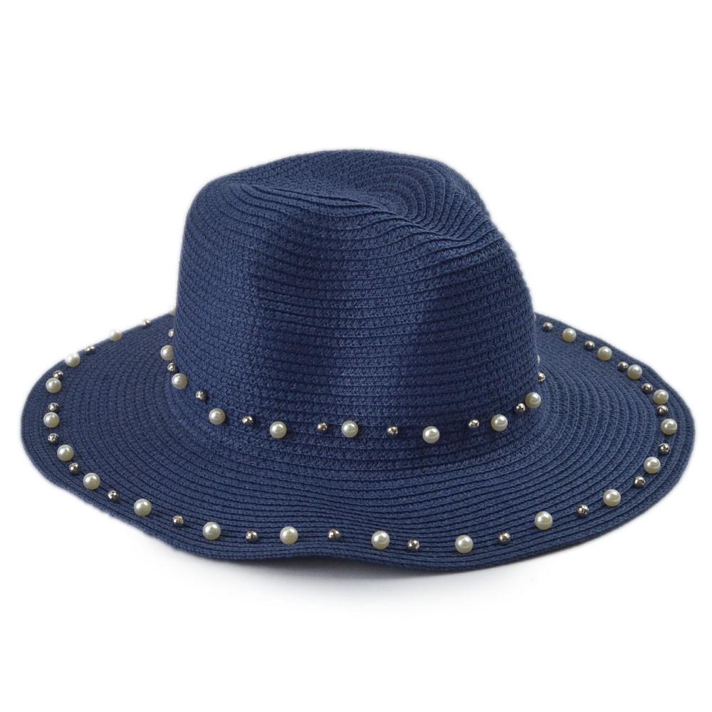Chapéu de Palha com Pérolas REF:CH 559