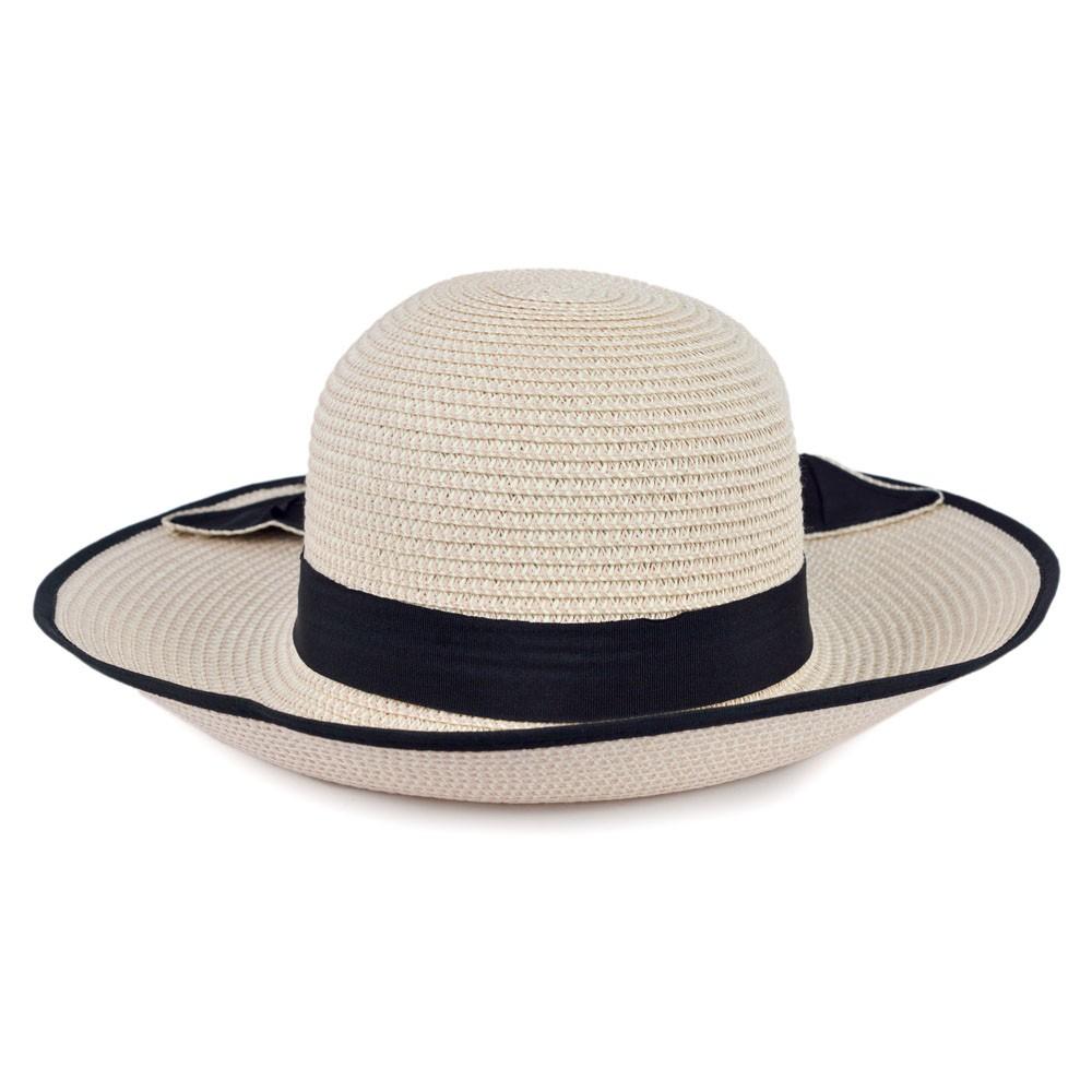 Chapéu Palha Rosa com Faixa e Laço