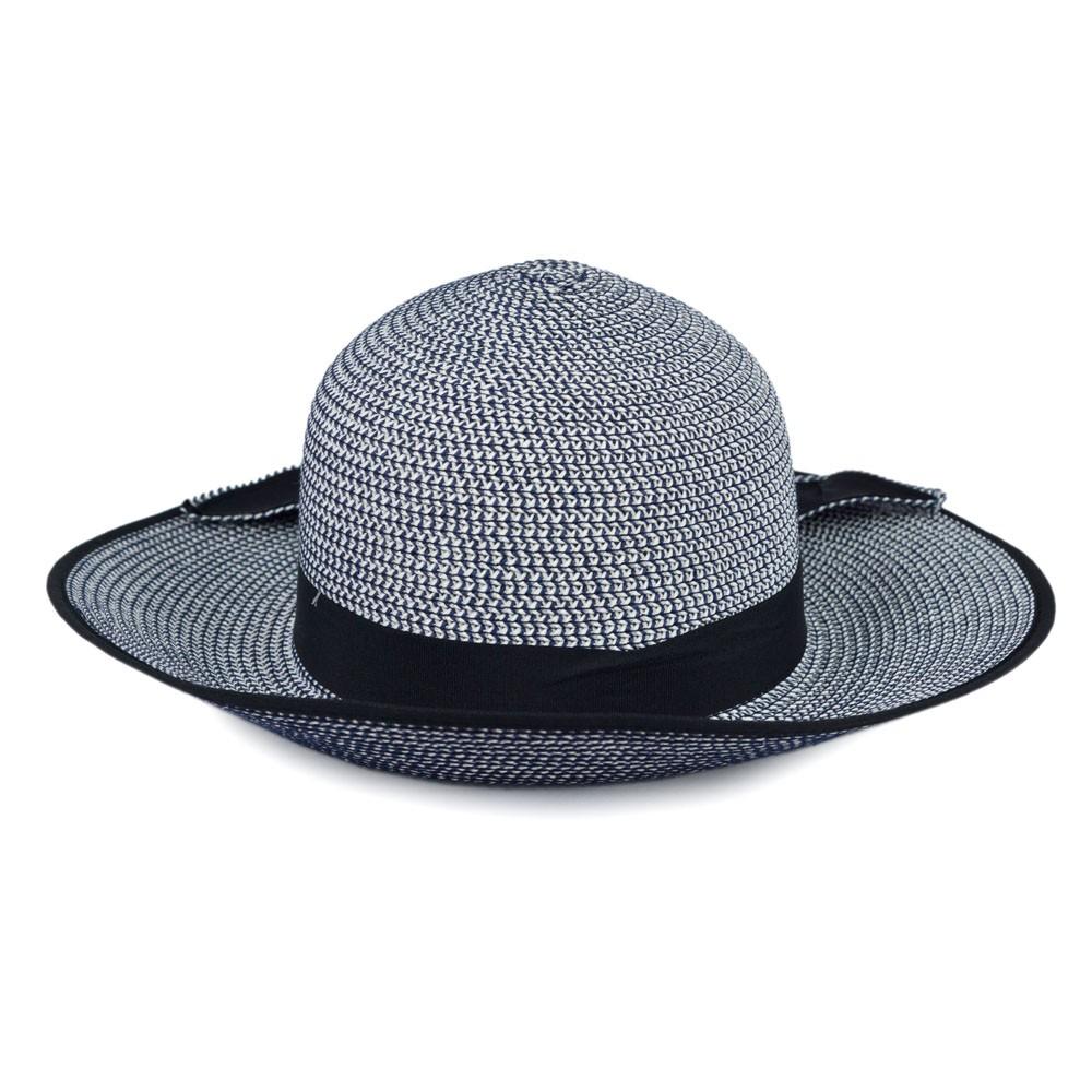 Chapéu Palha Azul com Faixa e Laço