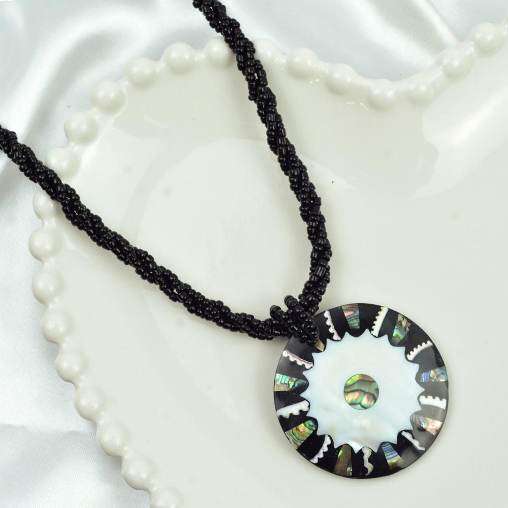 Colar Pingente Mandala Abalone / Madrepérola REF:112