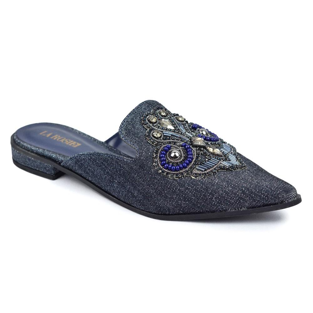 Mule Jeans com Pedraria REF:193010