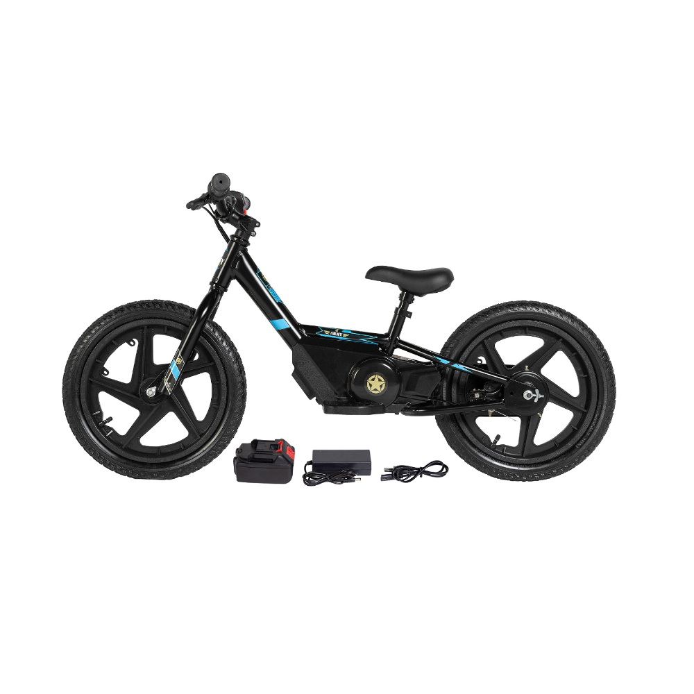 Mini Bike Elétrica Army Infantil E-Bike Aro 16 150 watts
