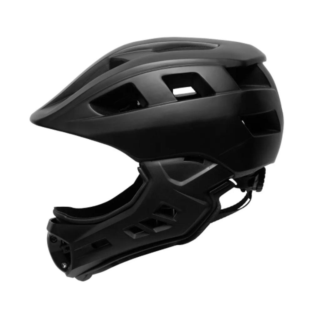 Capacete Bike Infantil fechado MTB/BMX/SKATE/PATINS Army Preto
