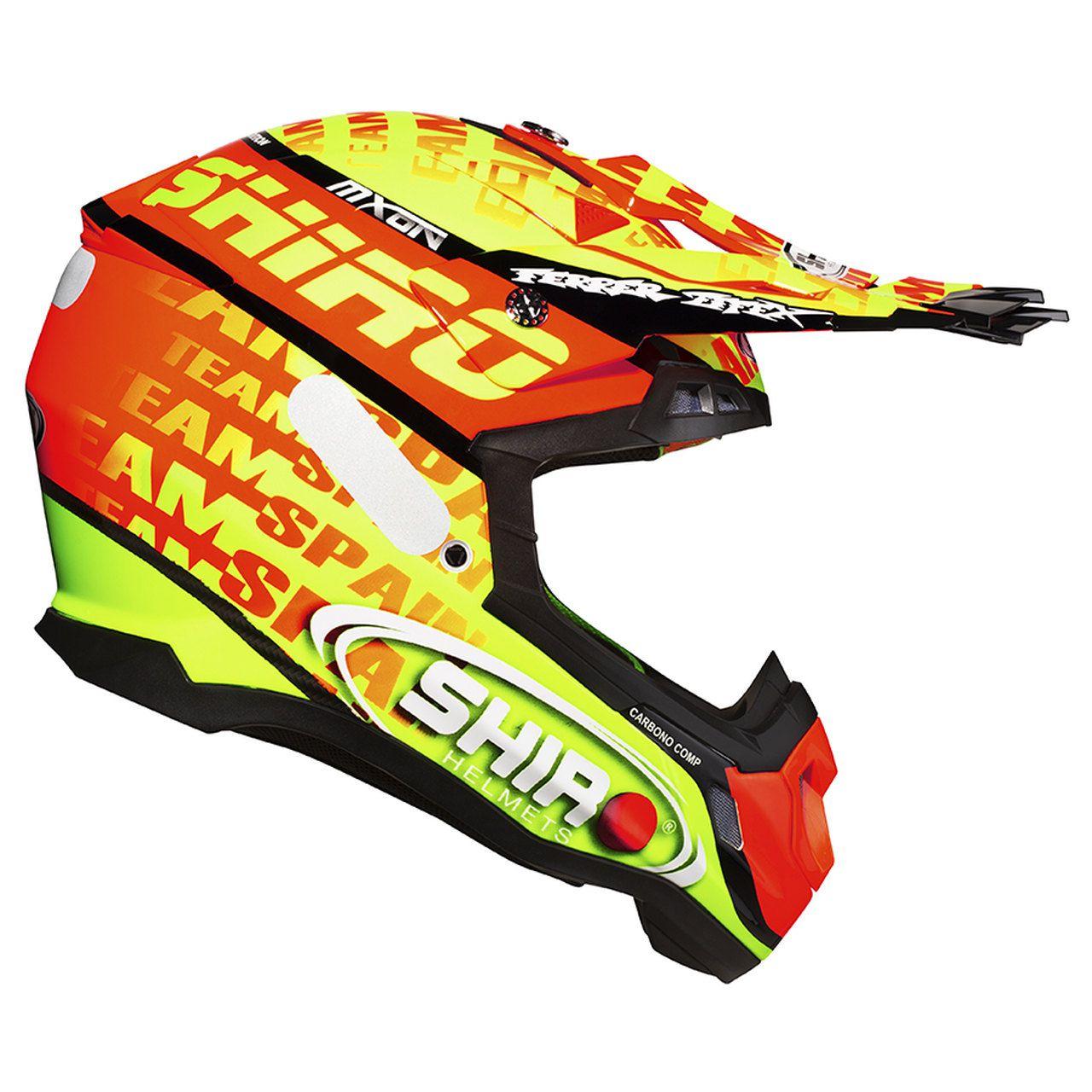 Capacete Shiro Motocross Off Road MX-917 Mxon Amarelo e Laranja