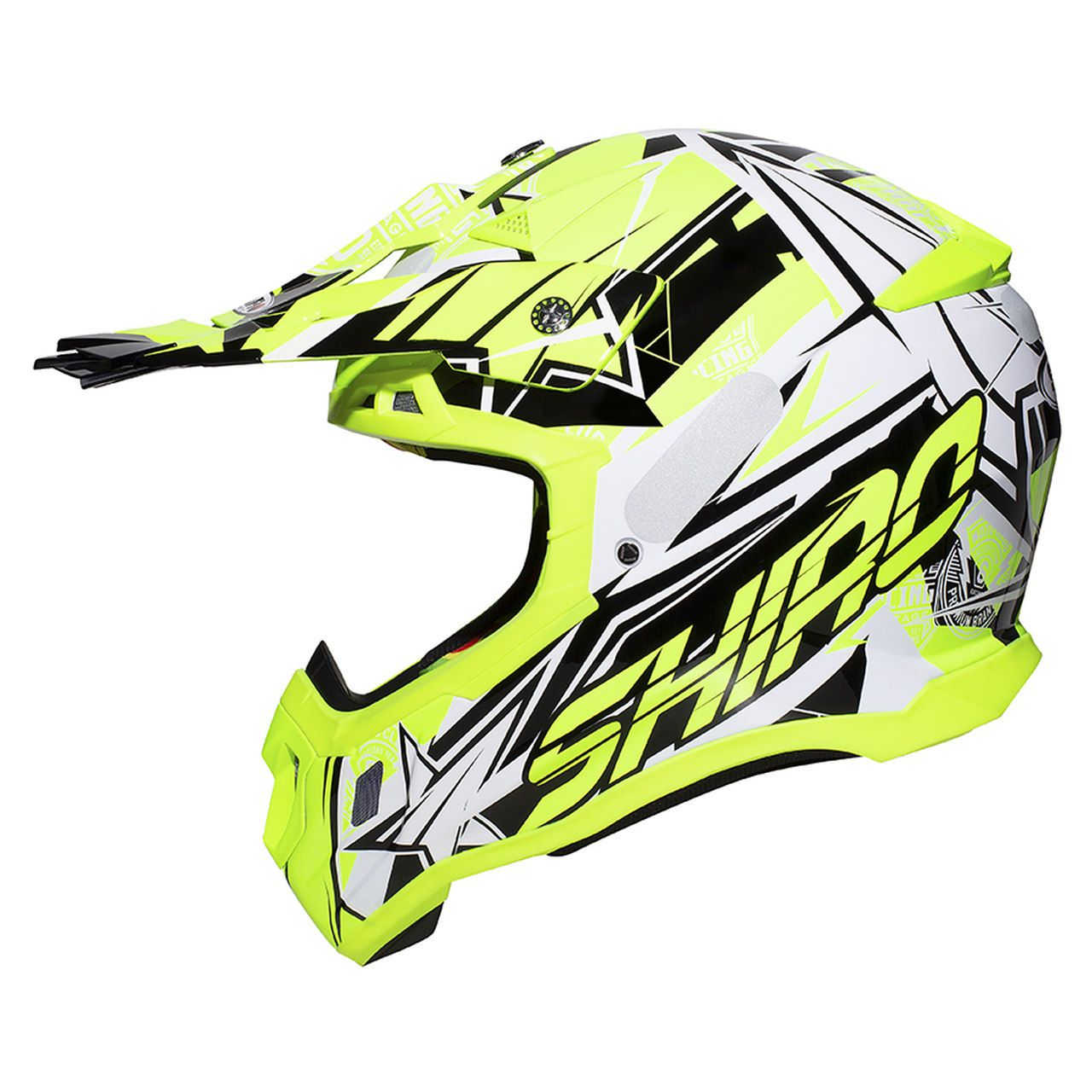 Capacete Shiro Motocross Off Road MX-917 Thunder III Amarelo Fluor