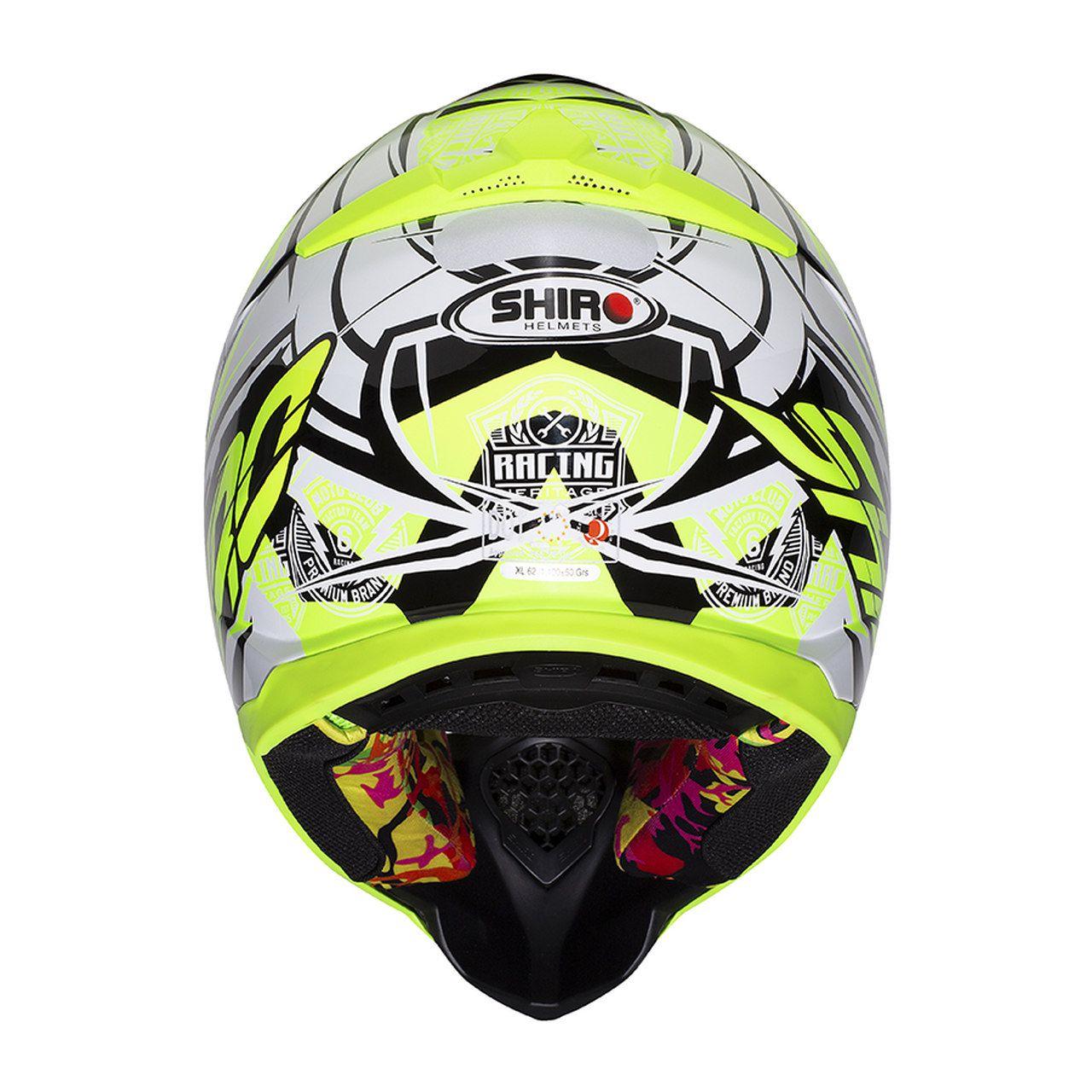 Capacete Shiro Motocross Off Road MX-917 Thunder III Amarelo Fluor