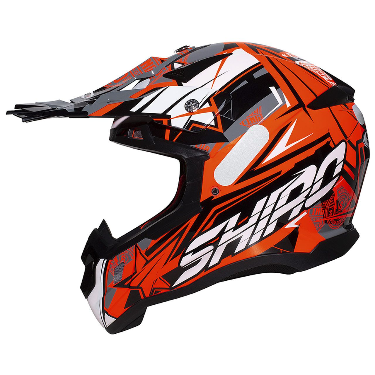 Capacete Shiro Motocross Off Road MX-917 Thunder III Laranja