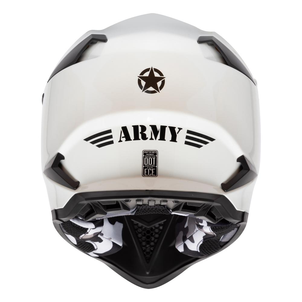 Capacete Army Patriot Branco Pérola