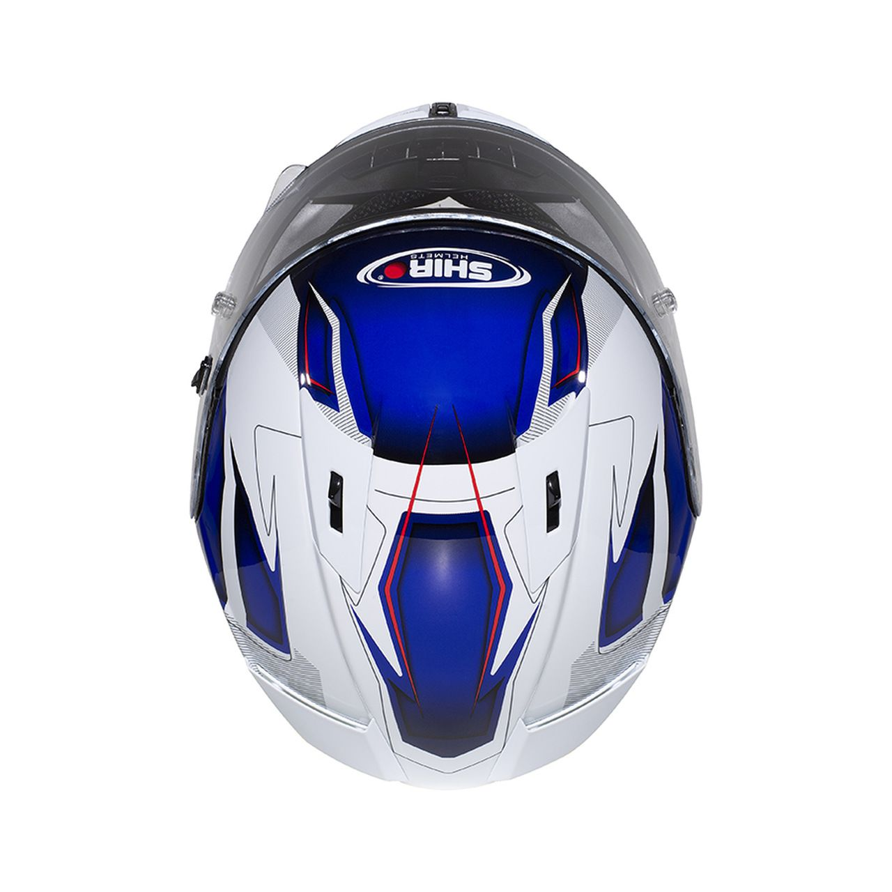 Capacete Shiro Speed Integral Racing Tricomposto SH-336 Crown Branco e Azul