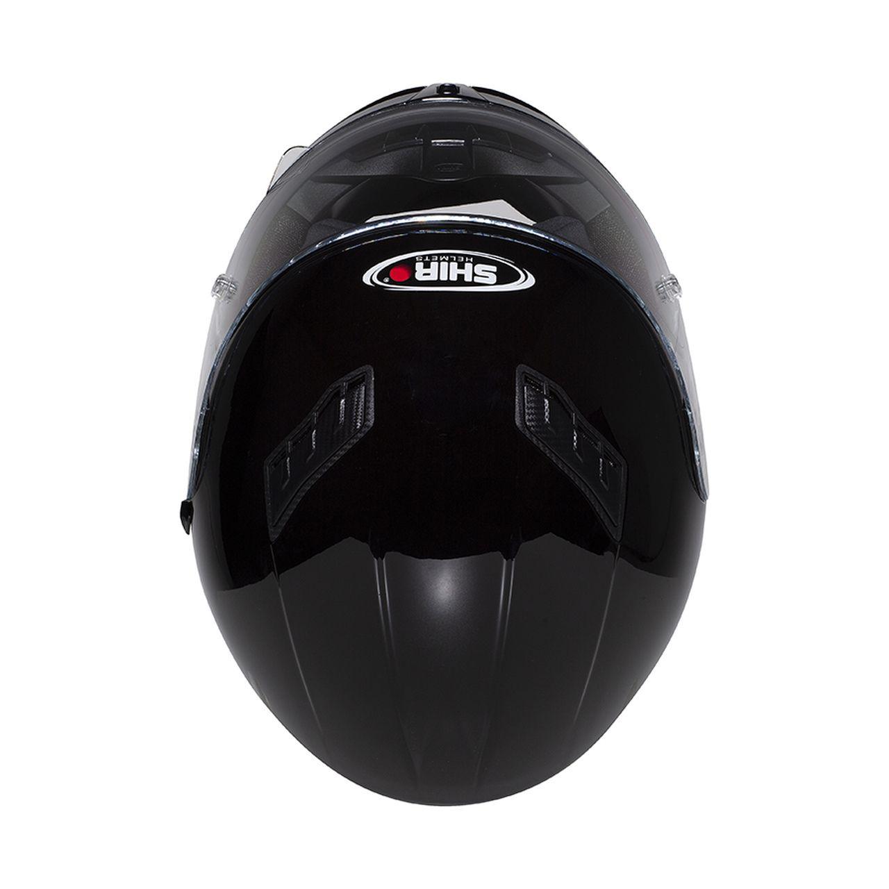 Capacete Shiro Integral Strada com Óculos Interno SH-600 Mono Preto Brilho