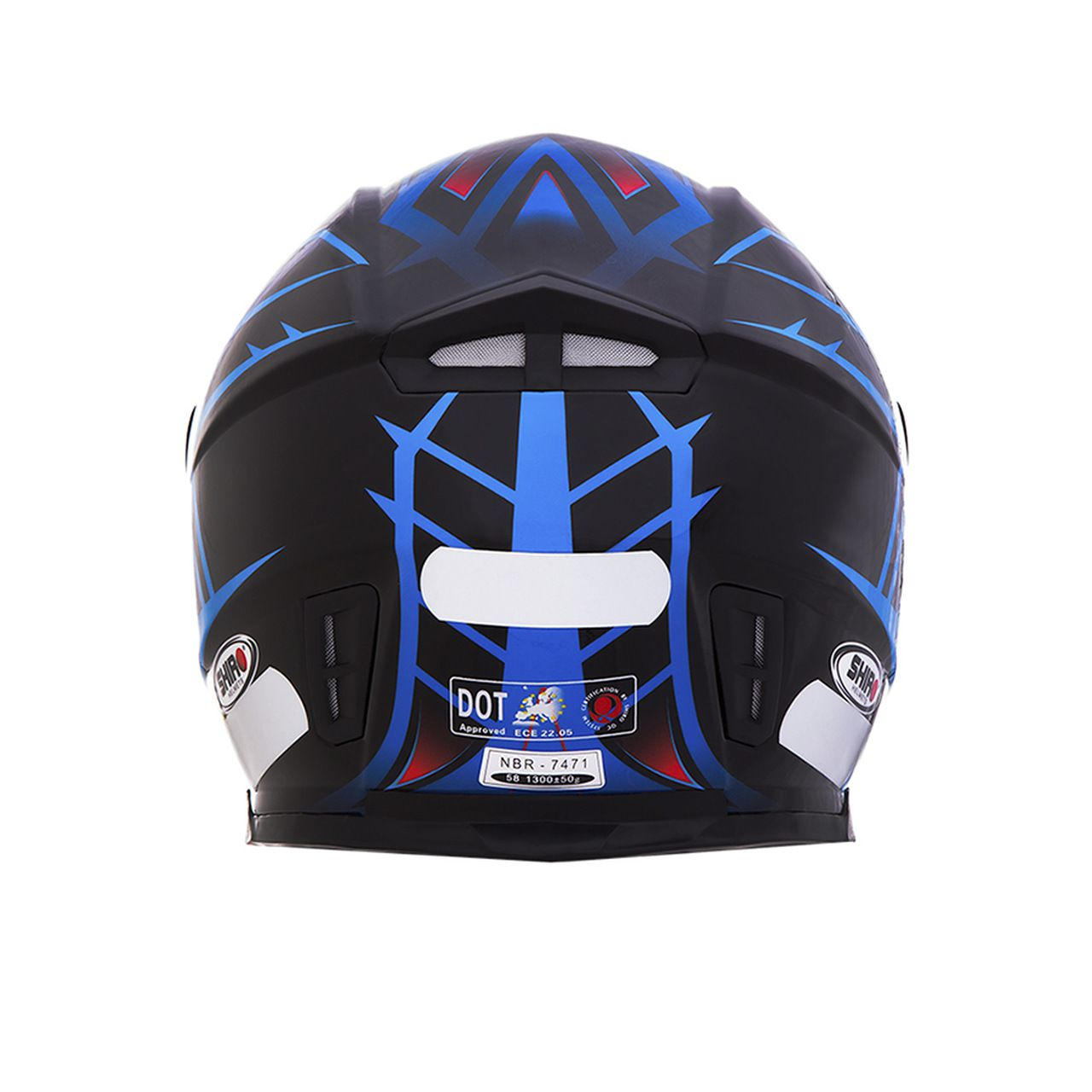 Capacete Shiro Integral City SH-881 Fly Racing Preto e Azul
