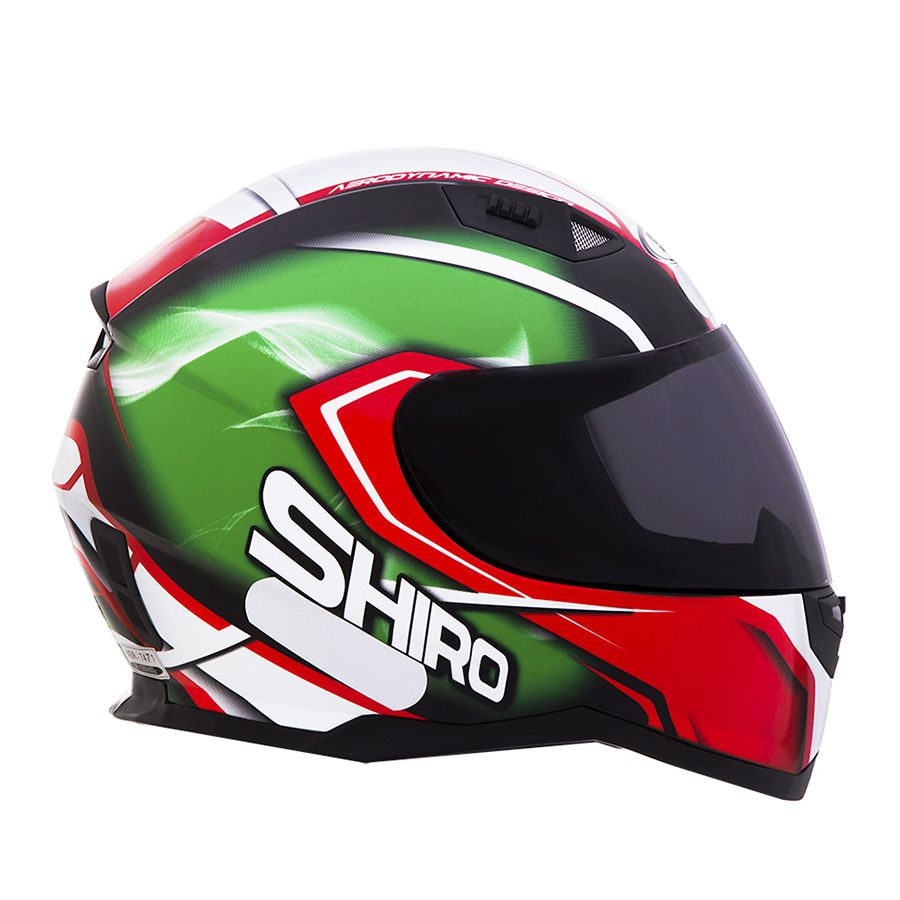 Capacete Shiro Integral City SH881 Motegi + Viseira Iridium
