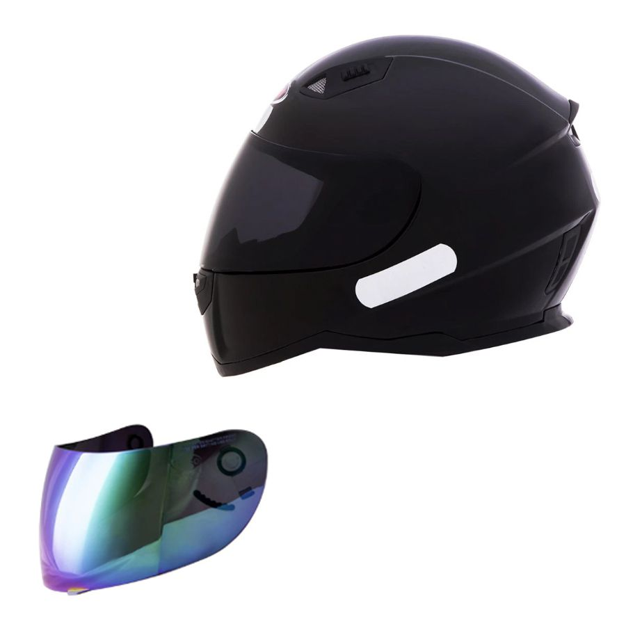 Capacete Shiro Integral City SH-881 Mono + Viseira Rainbow