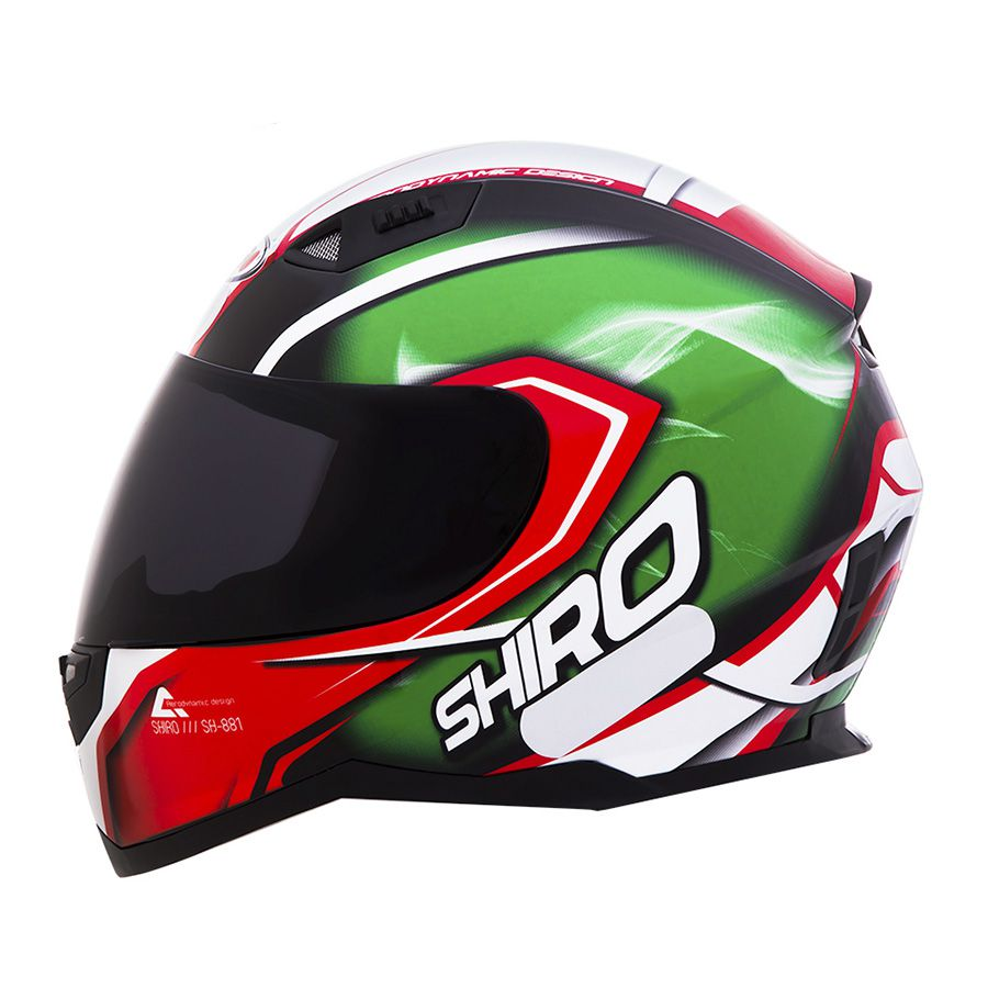 Capacete Shiro Integral City SH-881 Motegi + Viseira Rainbow