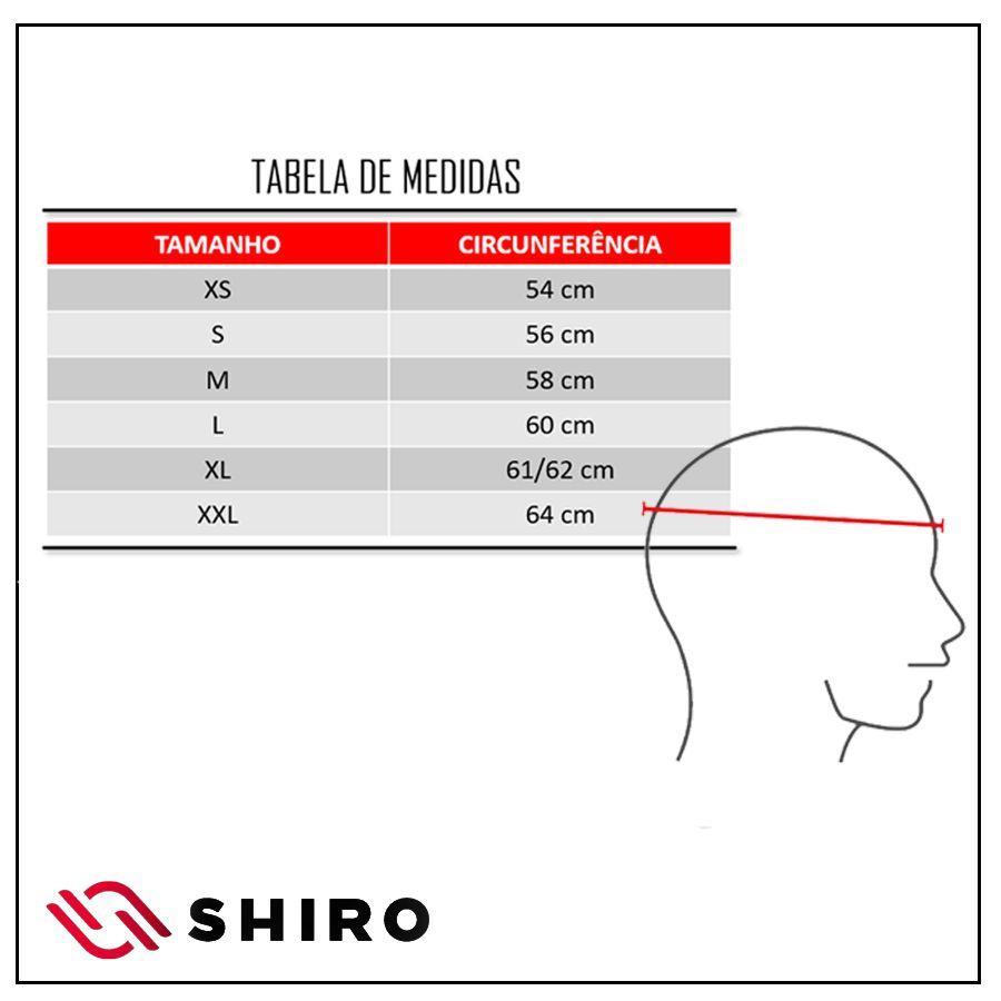 Capacete Shiro Integral Strada com Óculos Interno SH-600 Elite Preto Fosco e Laranja