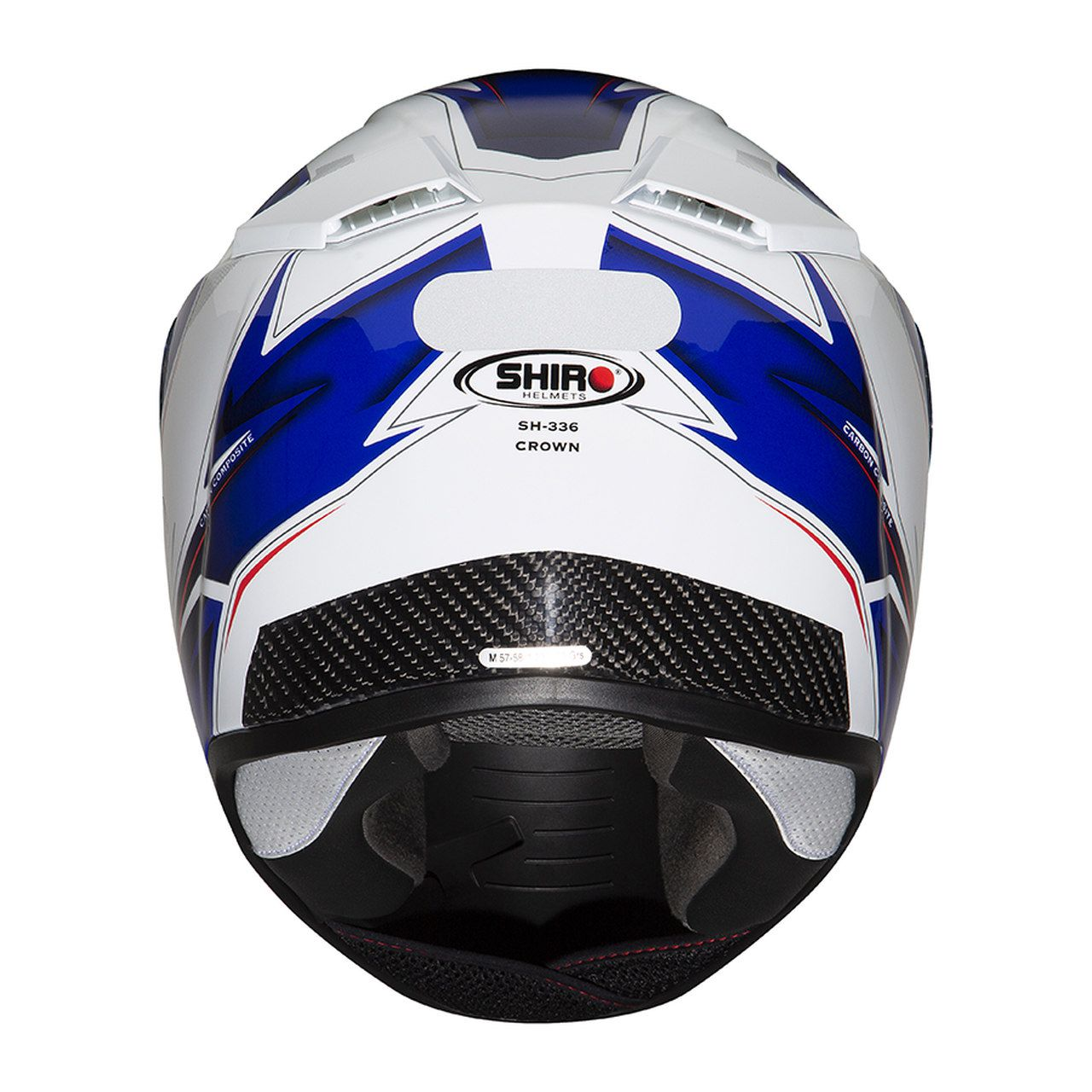 Capacete Shiro Speed Integral Racing Tricomposto SH-336 Crown Branco e Azul - Outlet