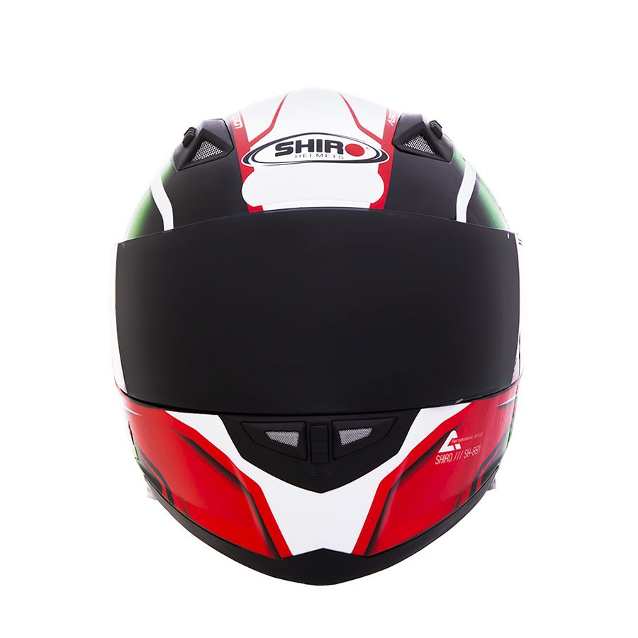 Kit Capacete Shiro Integral City Sh881 Motegi + Viseira Fumê
