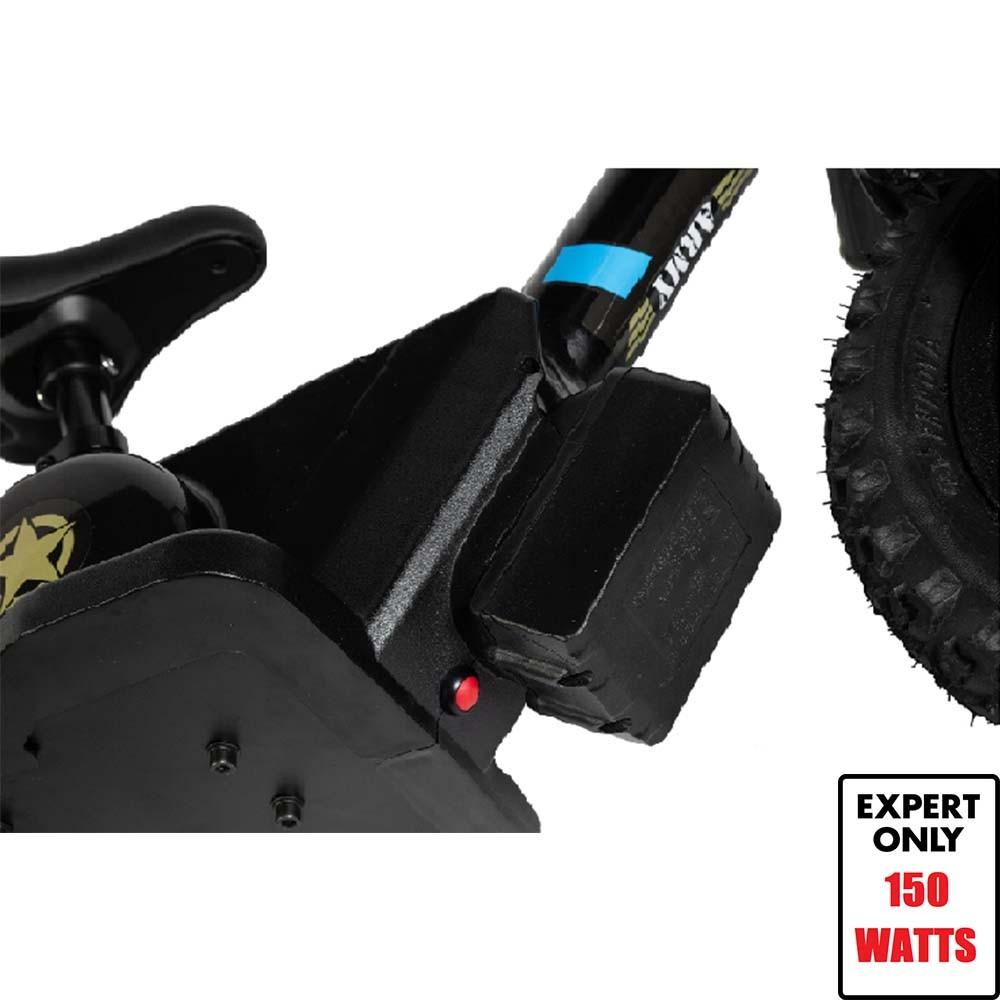 Mini Bike Elétrica Army Infantil E-Bike Aro 12 Expert 150 watts