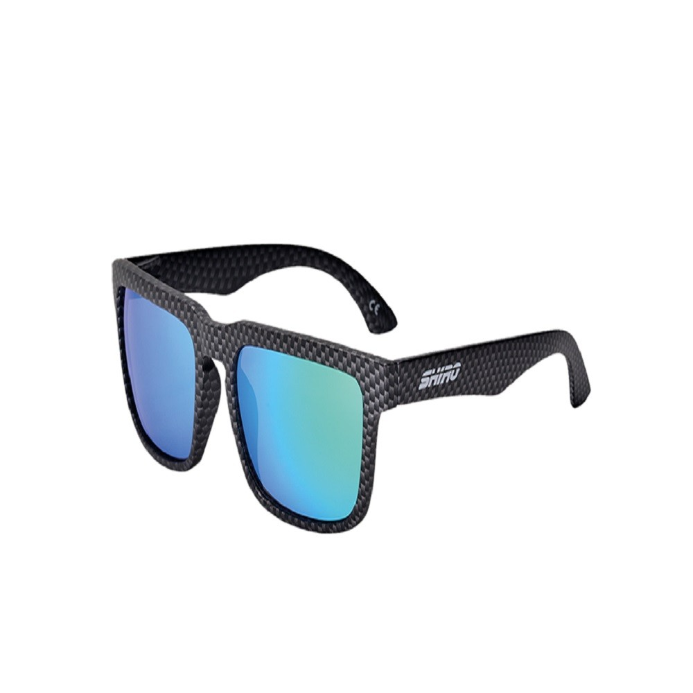 Óculos De Sol Haste Carbono Fosco Lente Verde