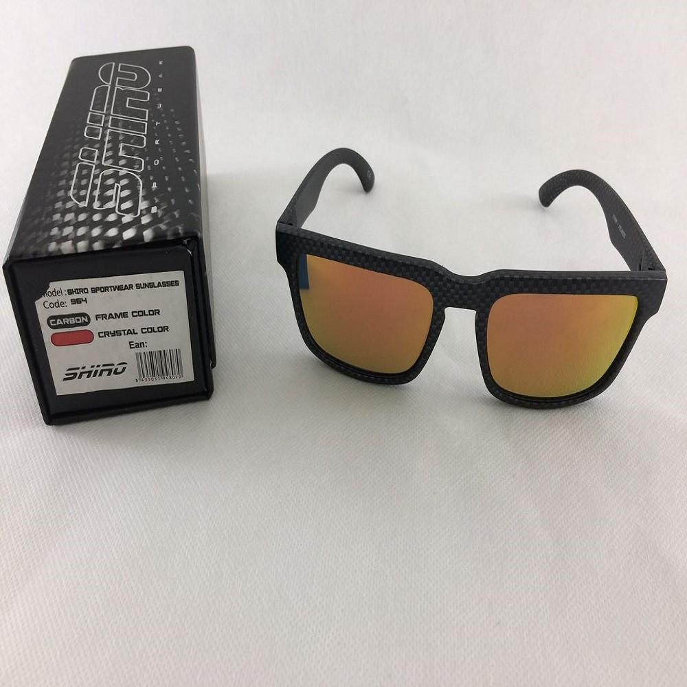 Óculos De Sol Haste Carbono Fosco Lente Vermelho