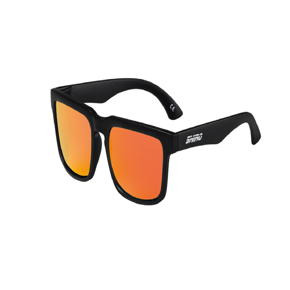 Óculos De Sol Haste Preto Fosco Lente Vermelho