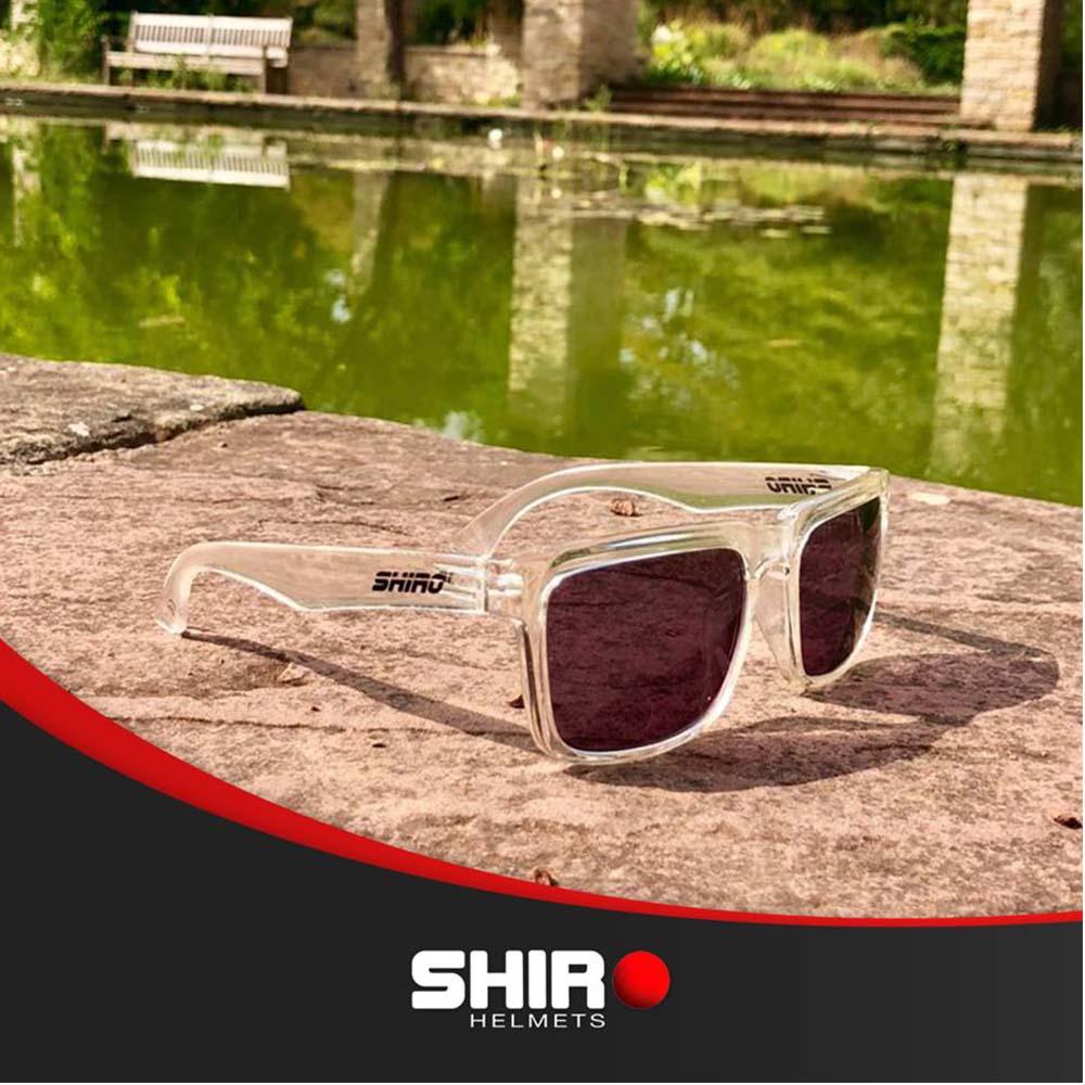 Óculos De Sol Haste Transparente Lente Azul