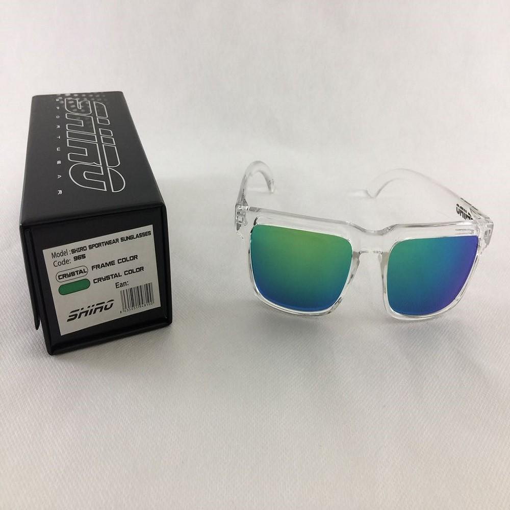 Óculos De Sol Haste Transparente Lente Verde