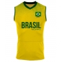 Camisa de Vôlei Brasil 2021/22 Amarela - S/Nº - Masculina