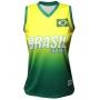 Camisa de Vôlei Brasil Retrô Amarelo 2008 - S/Nº - Feminina