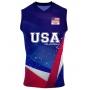 Camisa de Vôlei Estados Unidos 2021/22 Azul - S/Nº - Masculina