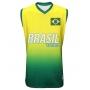 Camisa de Vôlei Brasil Retrô Amarelo 2008 - S/Nº - Masculina