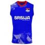 Camisa de Vôlei Sérvia 2021/22 Azul - S/Nº - Masculina