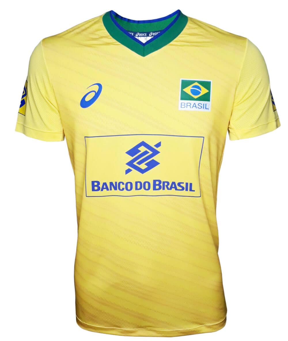 Camisa de Vôlei do Brasil 2019/20 Amarela - S/Nº - Masculina