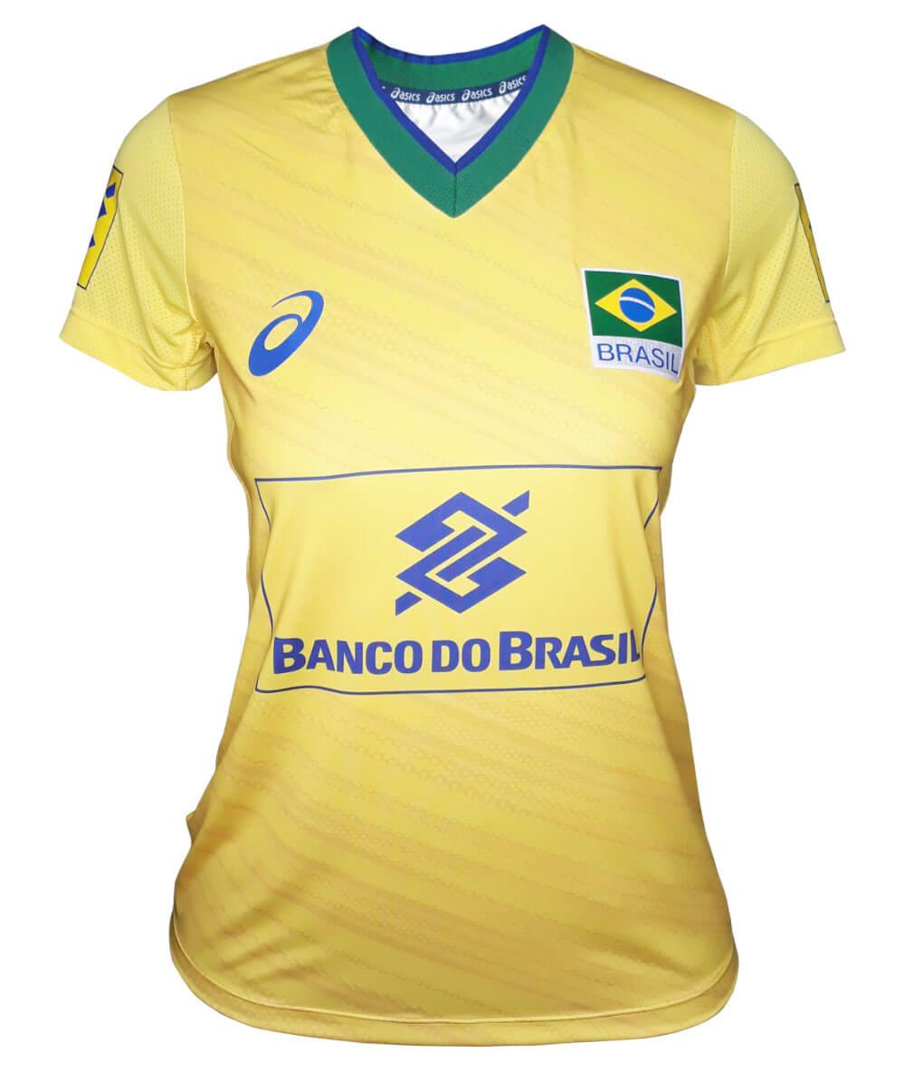 Camisa de Vôlei do Brasil 2019/20 Amarela - S/Nº - Feminina