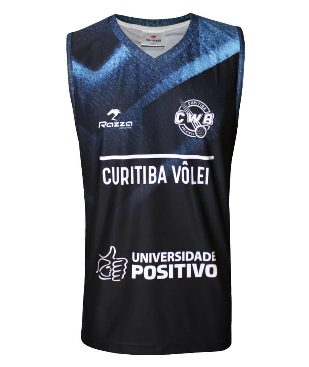 Camisa de Vôlei do Curitiba 2019/20 Preta - S/Nº - Masculina
