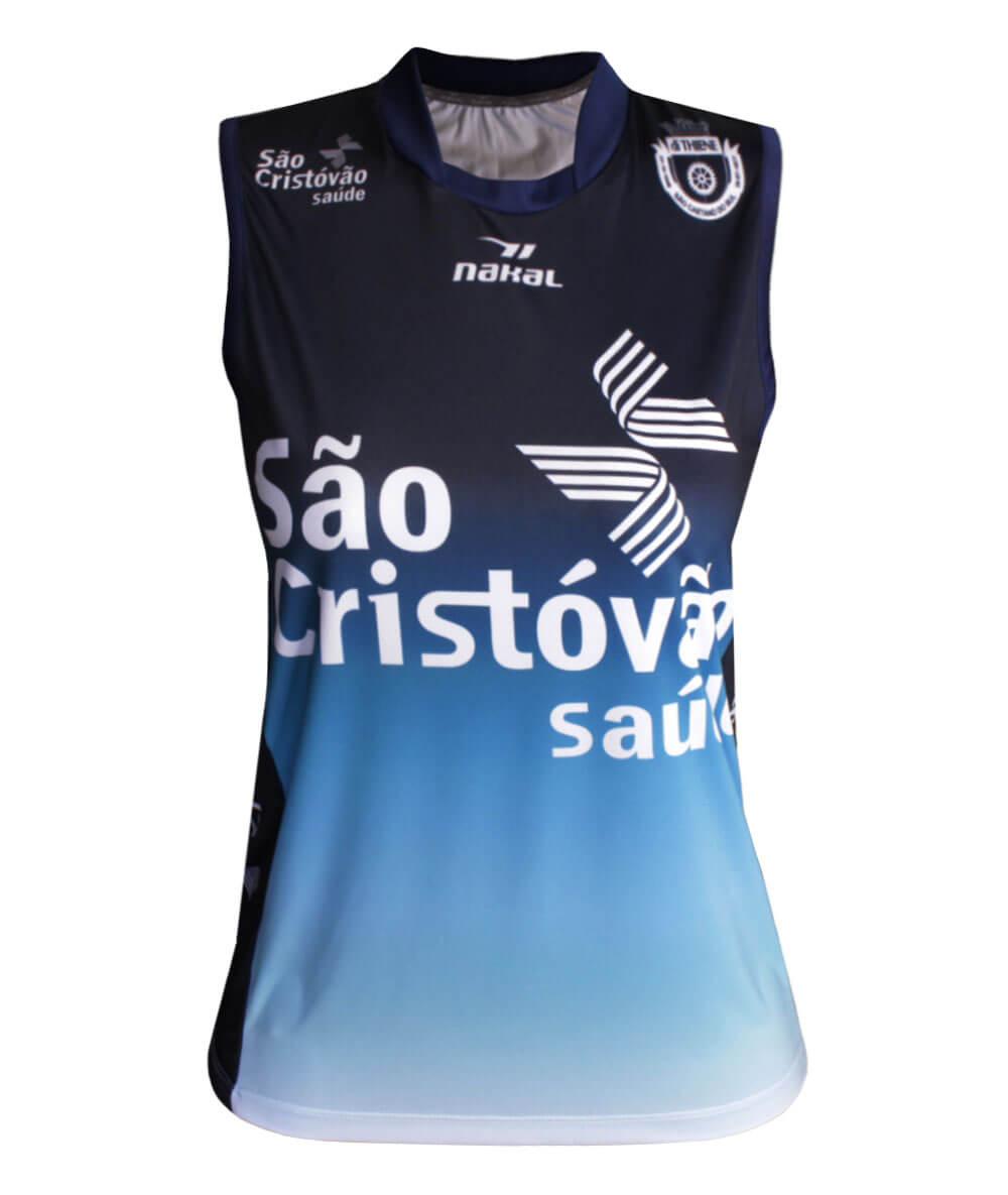 Camisa de Vôlei do São Caetano 2019/20 Azul - S/Nº - Feminina
