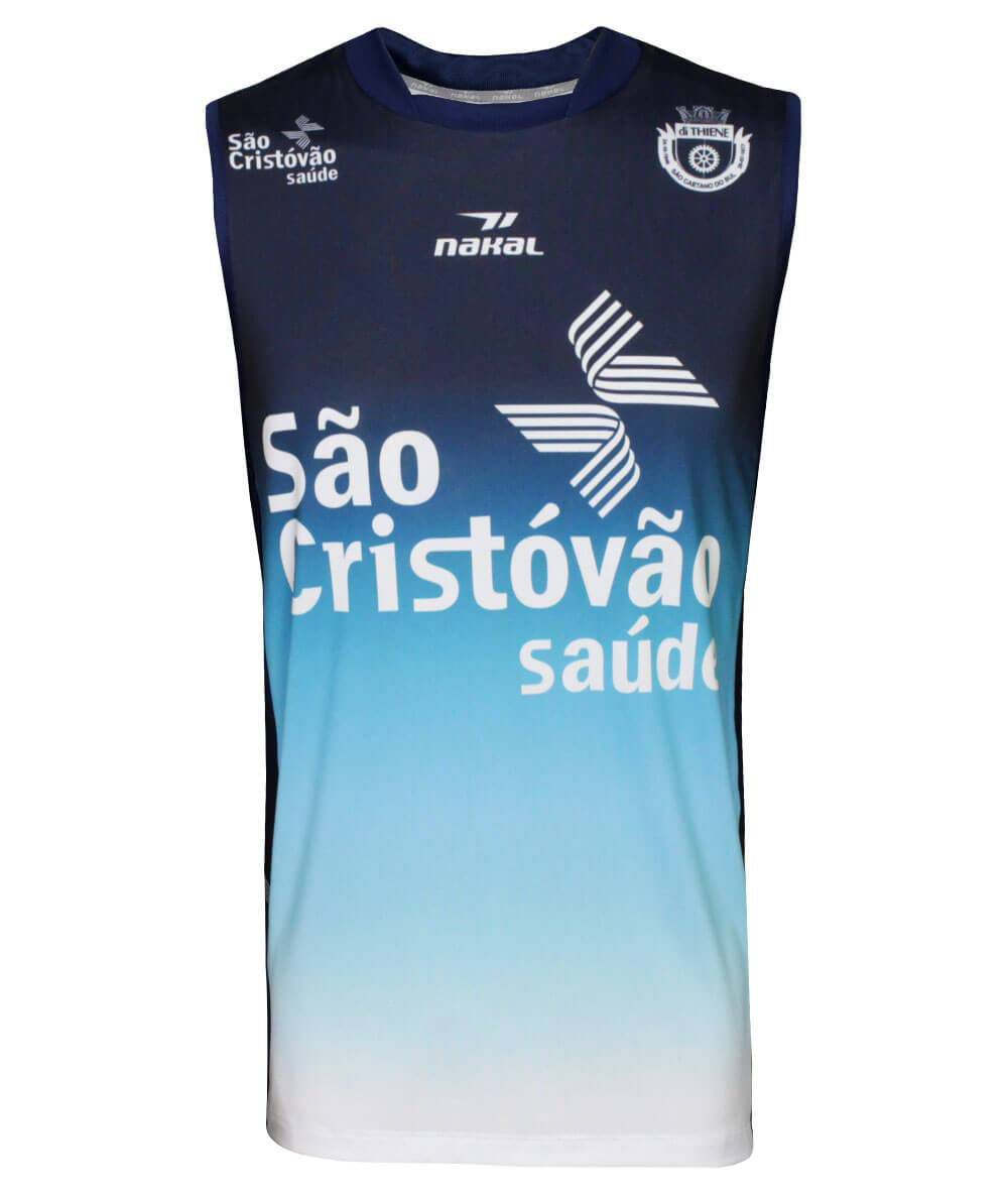 Camisa de Vôlei do São Caetano 2019/20 Azul - S/Nº - Masculina