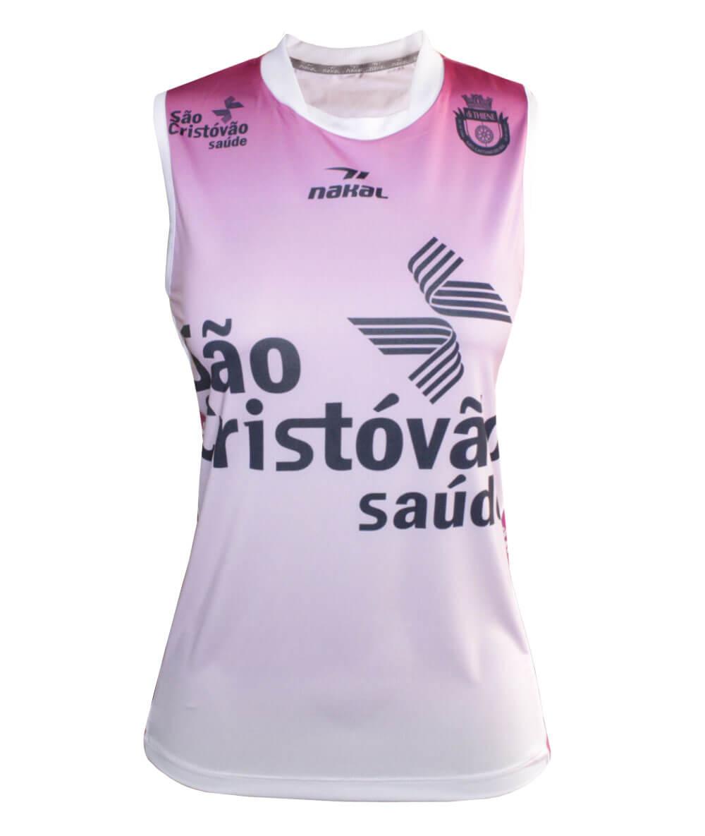 Camisa de Vôlei do São Caetano 2019/20 Rosa - S/Nº - Feminina