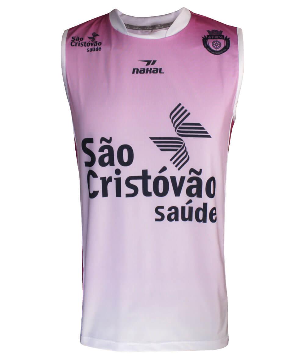 Camisa de Vôlei do São Caetano 2019/20 Rosa - S/Nº - Masculina