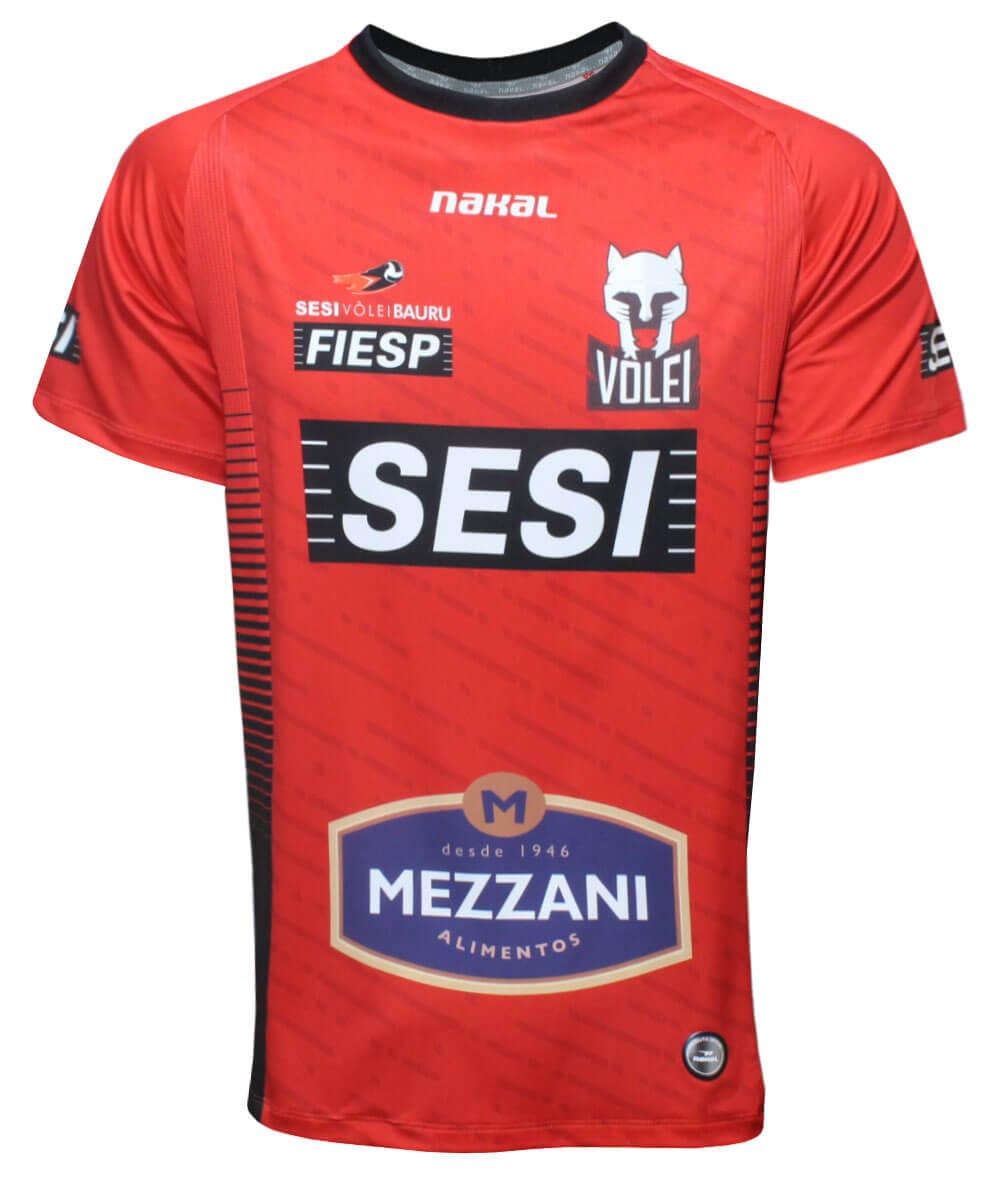 Camisa de Vôlei do Sesi Bauru 2021/22 Vermelha - Masculina