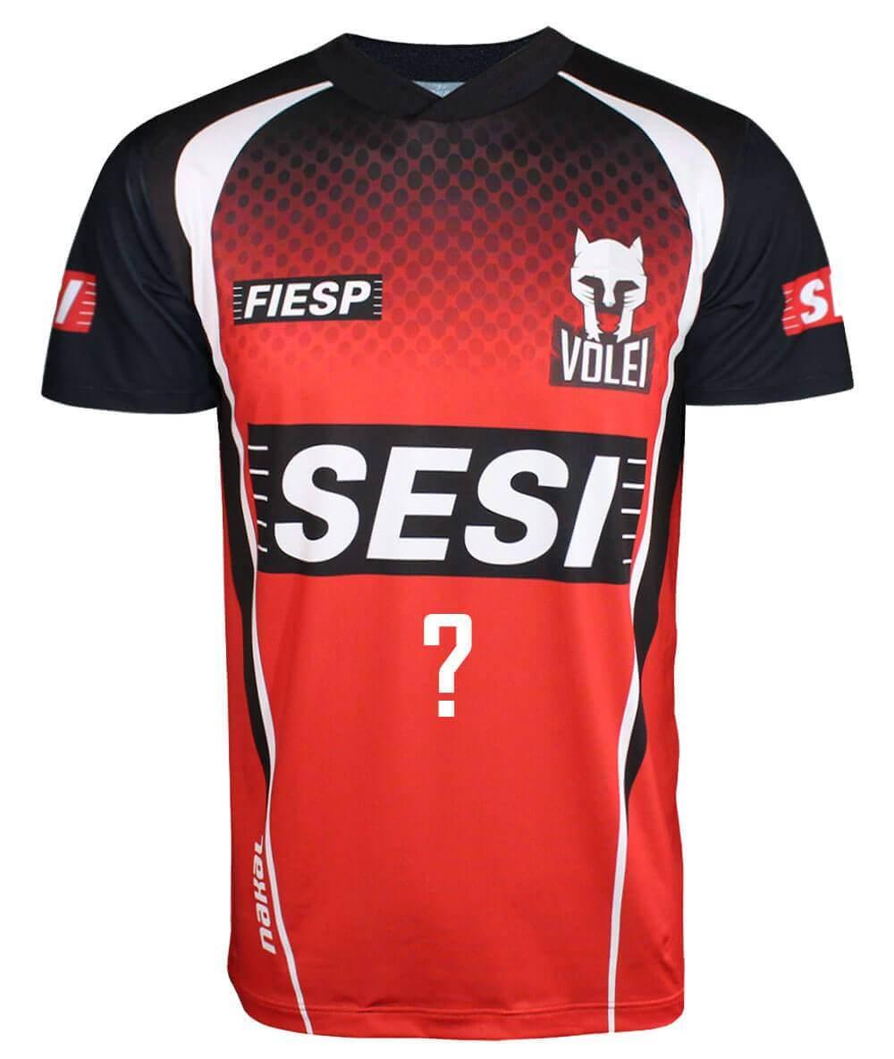 Camisa de Vôlei do Sesi-SP 2020/21 Vermelha - Personalizada - Masculina